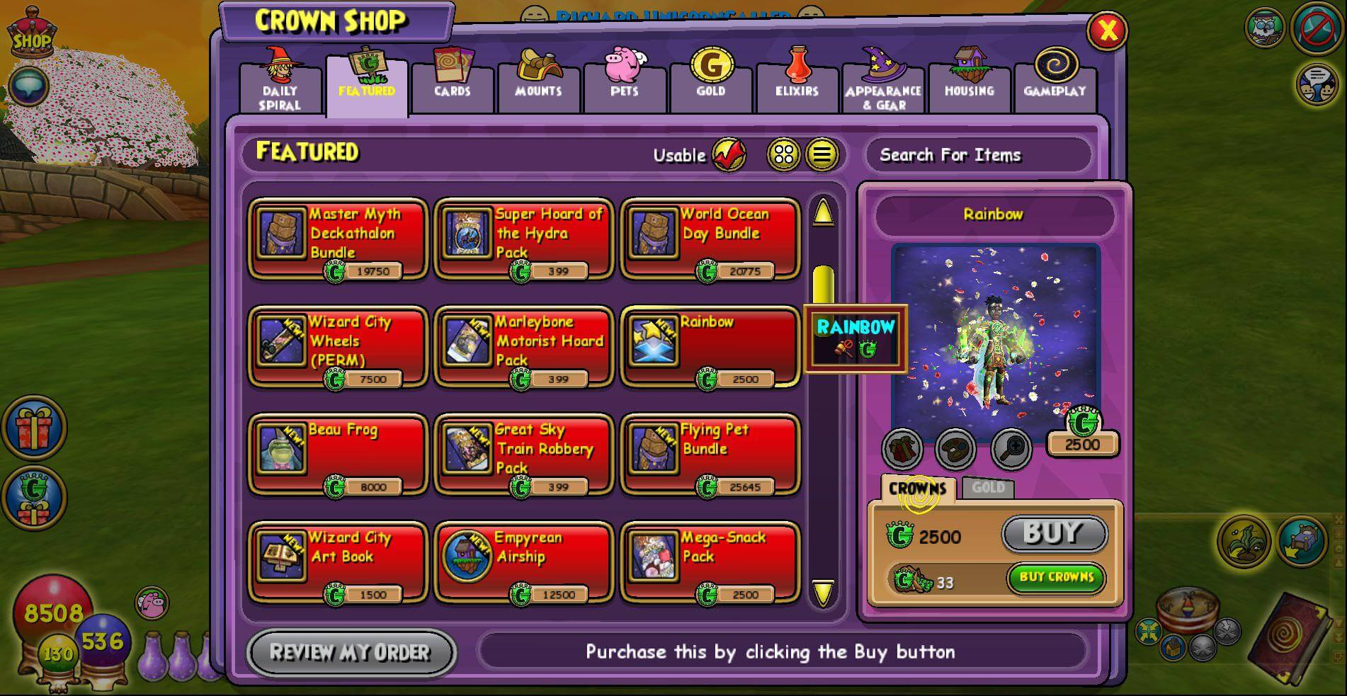 Token Rainbow Teleport (September) About Treasure Hunter Reward