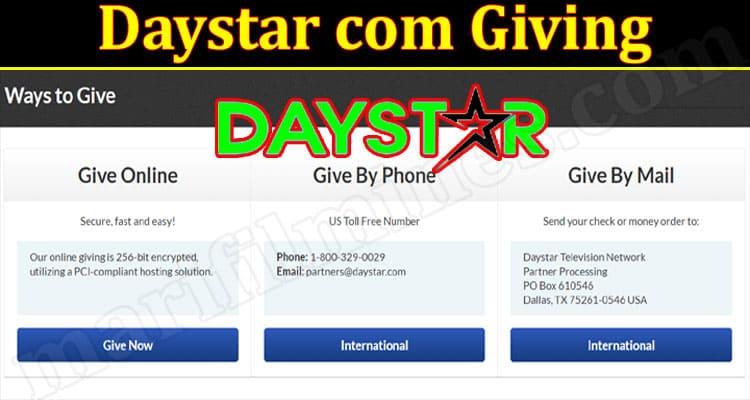 Daystar com Giving (October 2021) Get Deep Insight Here!